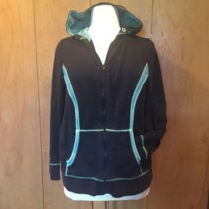 18/20 Lane Bryant hooded athleisure wear jacket